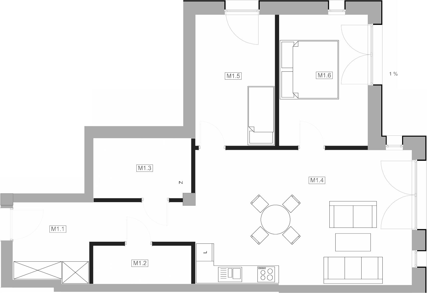 Mieszkanie M1