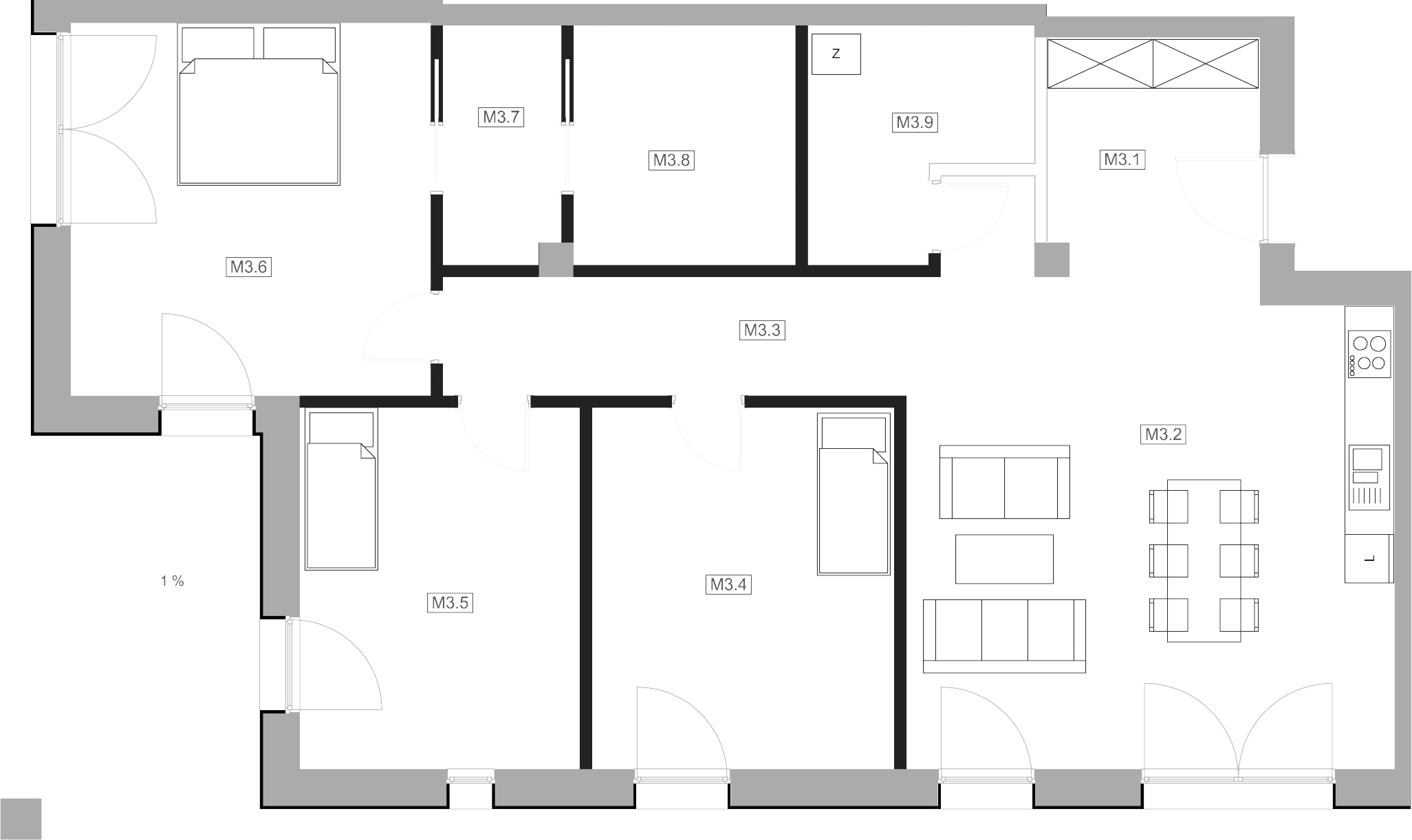 Mieszkanie M3