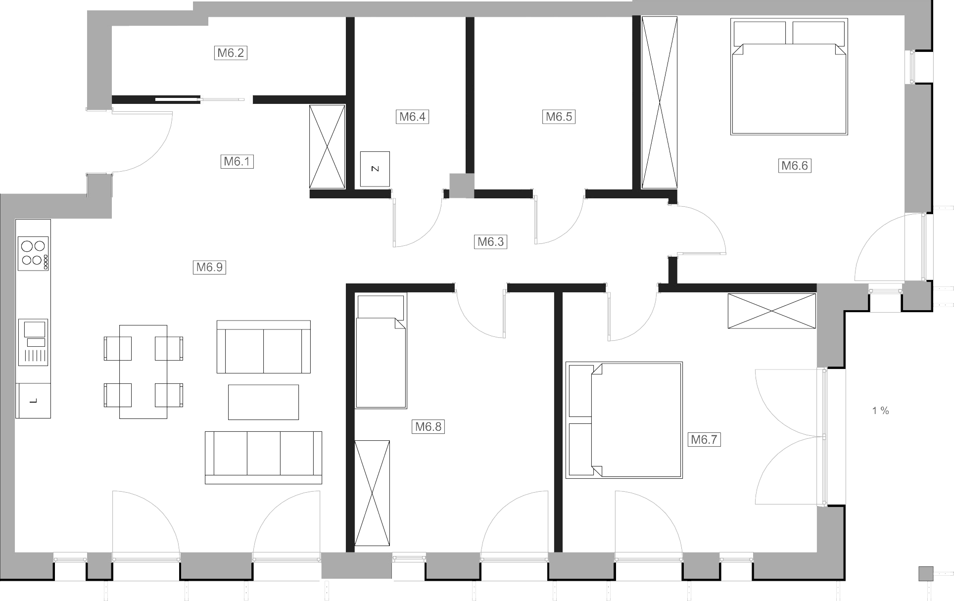 Mieszkanie M6